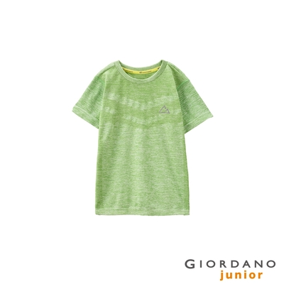 GIORDANO 童裝G-Motion 涼感T恤 - 05 雪花果綠