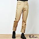 鬼洗 BLUE WAY 機能系-波浪袋花中腰直筒褲(淺卡其)
