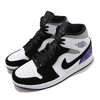 Nike 休閒鞋 Air Jordan 1代 SE 男鞋 Varsity Purple AJ1 喬丹 黑 紫 852542105