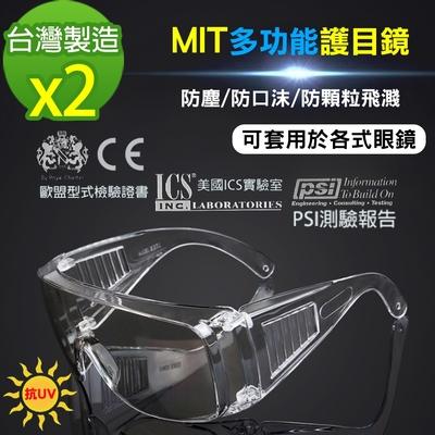 黑魔法 MIT全面性抗UV飛沫防護護目鏡 台灣製