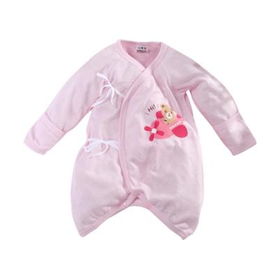 魔法Baby包屁衣 台灣製嬰兒薄長袖護手蝴蝶衣  k51594