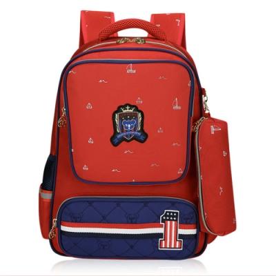 DF 童趣館 - 英倫學院風兒童護脊書包後背包-共4色