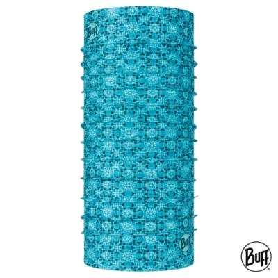 【西班牙BUFF】Coolnet抗UV頭巾-沁藍磚紋