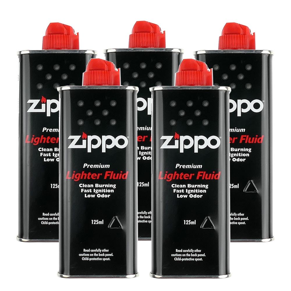 【ZIPPO】原廠專用打火機補充油~5罐優惠組合