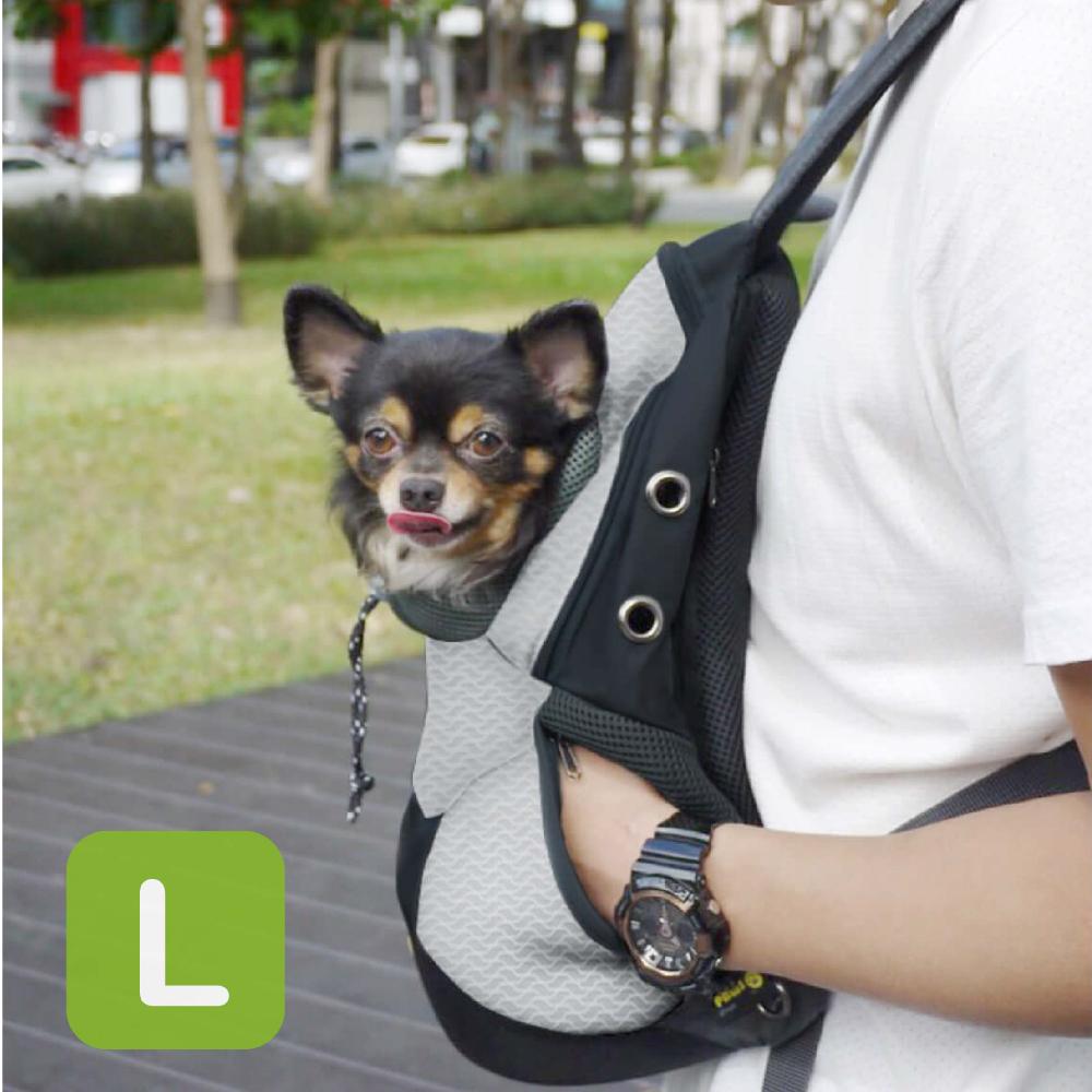 Crazypaws瘋狂爪子 FEEL U運動風寵物後背包 / L
