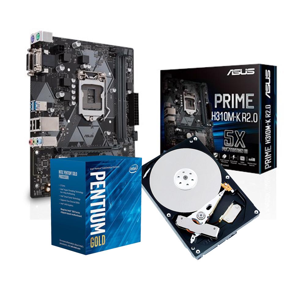華碩PRIME H310M-K R2.0+Intel G5400+1TB組合套餐