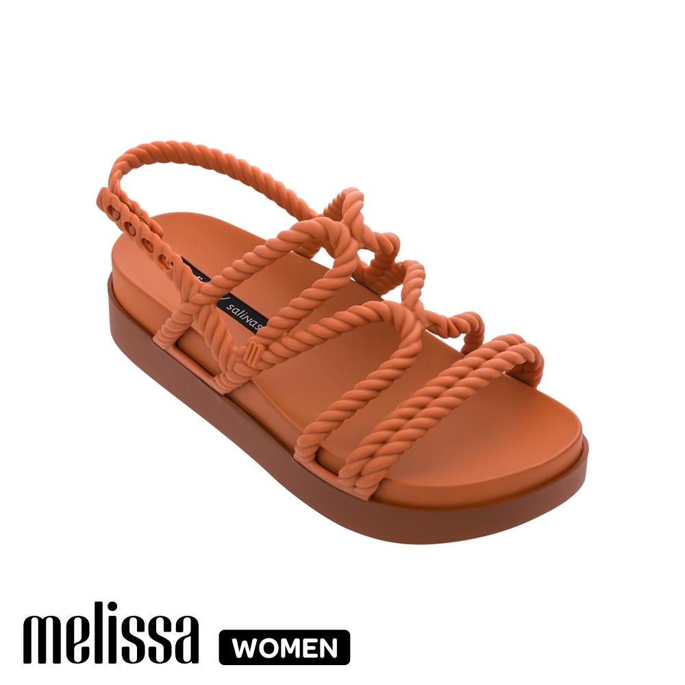 Melissa x Salinas 聯名編織繩厚底涼鞋 橘