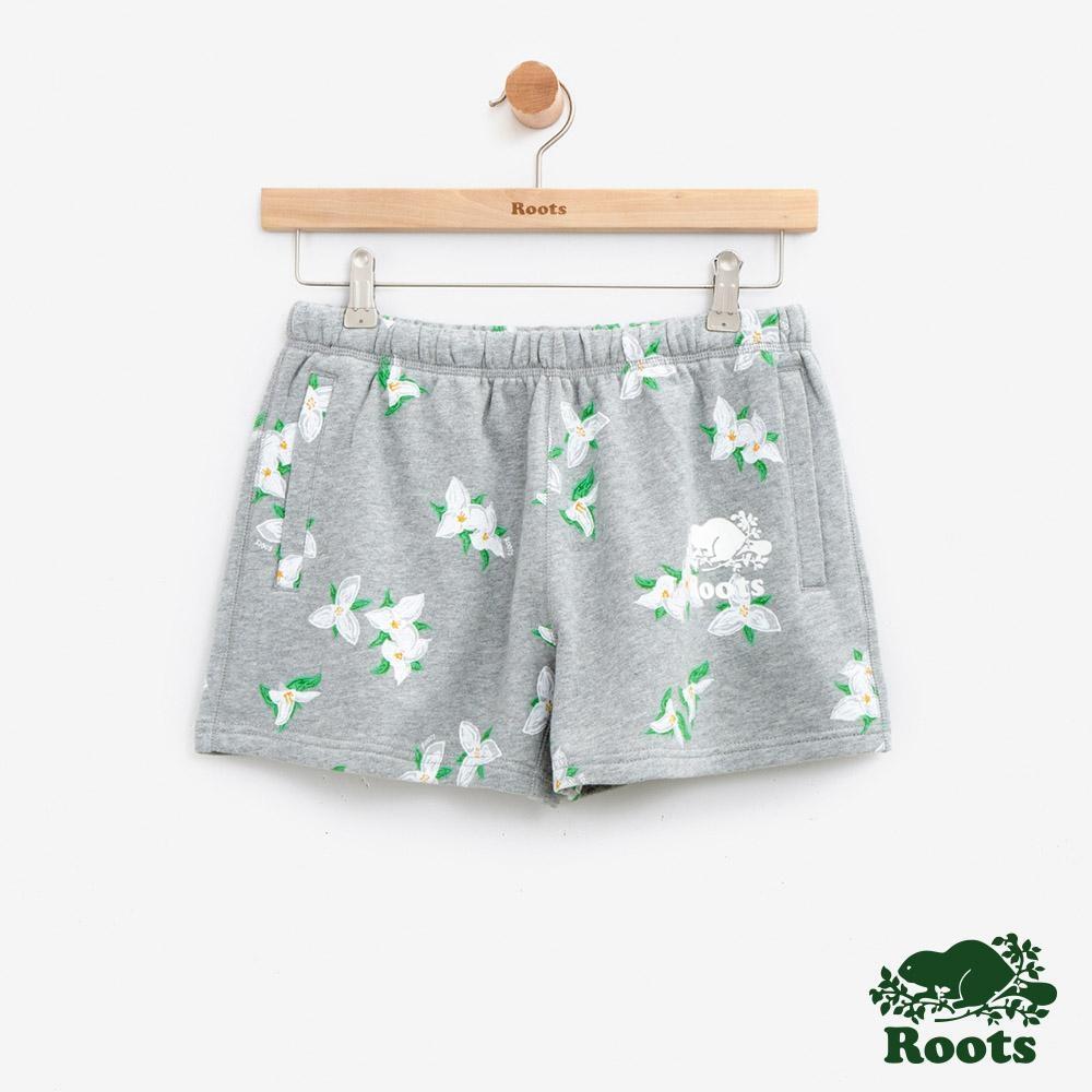 女裝Roots 延齡草滿版印花短褲-灰色