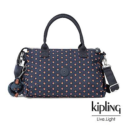 Kipling紅黃幾何印花公事手提包-IRISA
