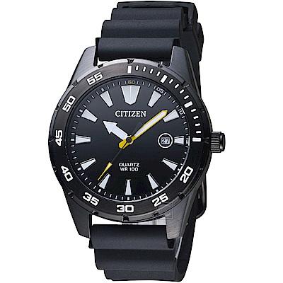 CITIZEN星辰潮流型男時尚腕錶(BI1045-13E)-黑色