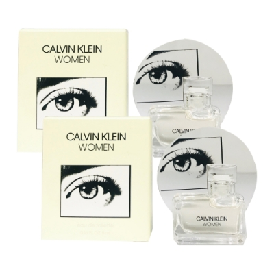 Calvin Klein卡文克萊 CK WOMEN 女性淡香水 小香5ml(2入)