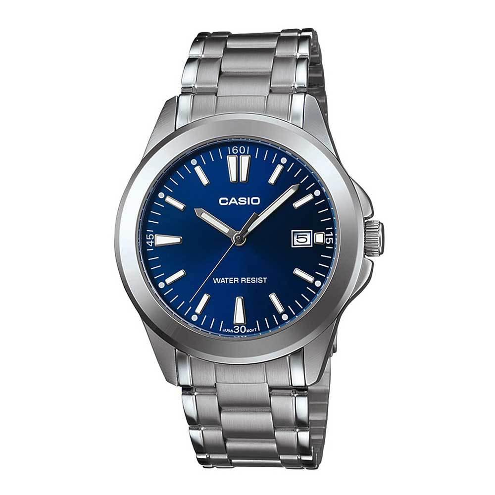 CASIO 時尚都會新風格羅馬指針錶(MTP-1215A-2A2)藍/38.4mm