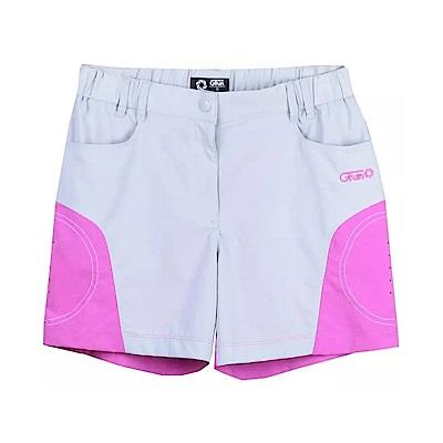 Gfun 女款拼接短褲-亮灰/薔薇紫(G5URPL1-purple)
