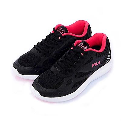 FILA女慢跑鞋-黑 5-J902S-020