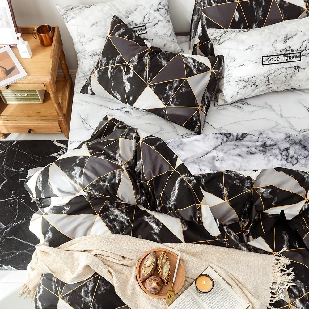 A-one 雪紡棉 雙人床包/枕套 三件組 完美無瑕