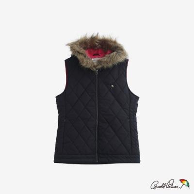 Arnold Palmer -女裝-菱格壓紋鋪棉背心-黑色