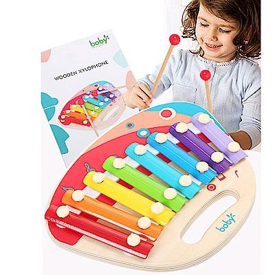Boby 木製貝殼八音敲琴(兒童樂器玩具)18m+