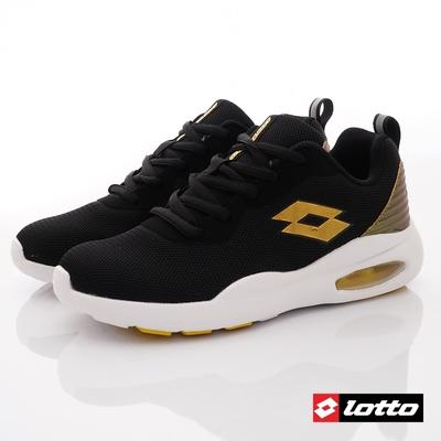 Lotto義大利運動鞋 DAY RIDE輕氣墊跑鞋款 2121黑金(大童段)C53