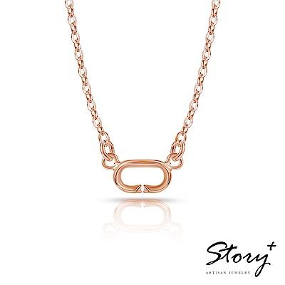 STORY故事銀飾-Charm扣扣系列-基礎項鍊(玫瑰金)