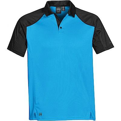 加拿大STORMTECH超吸排H2X-DRY拼接POLO衫-男-水藍