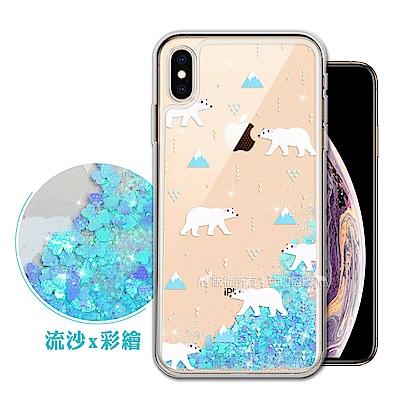 EVO iPhone Xs Max 6.5吋 流沙彩繪保護手機殼(北極熊)