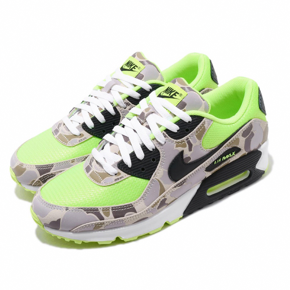 Nike 休閒鞋 Air Max 90 SP 運動 男鞋  氣墊 避震 綠迷彩 舒適 穿搭 球鞋 卡其 綠 CW4039300
