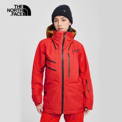 The North Face北面女款紅棕色防水透氣衝鋒衣|4QY8TBV
