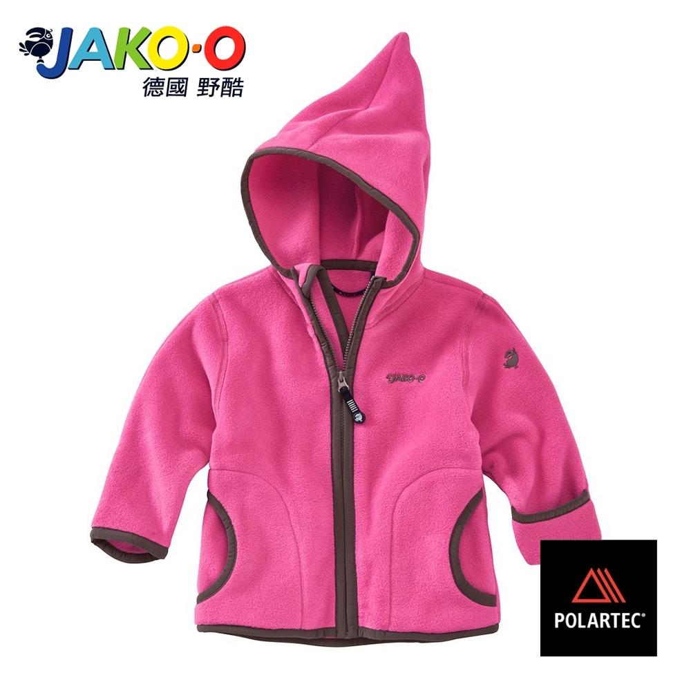 JAKO-O德國野酷-POLARTEC護手保暖連帽外套-粉紅  兒童雪衣