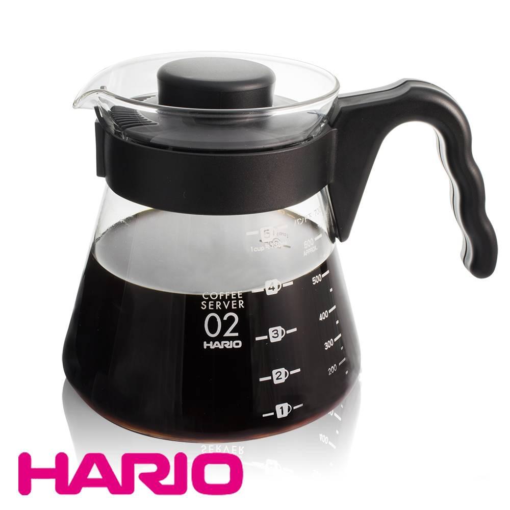 【日本 HARIO】好握把耐熱玻璃咖啡壺700ml(VCS-02B)