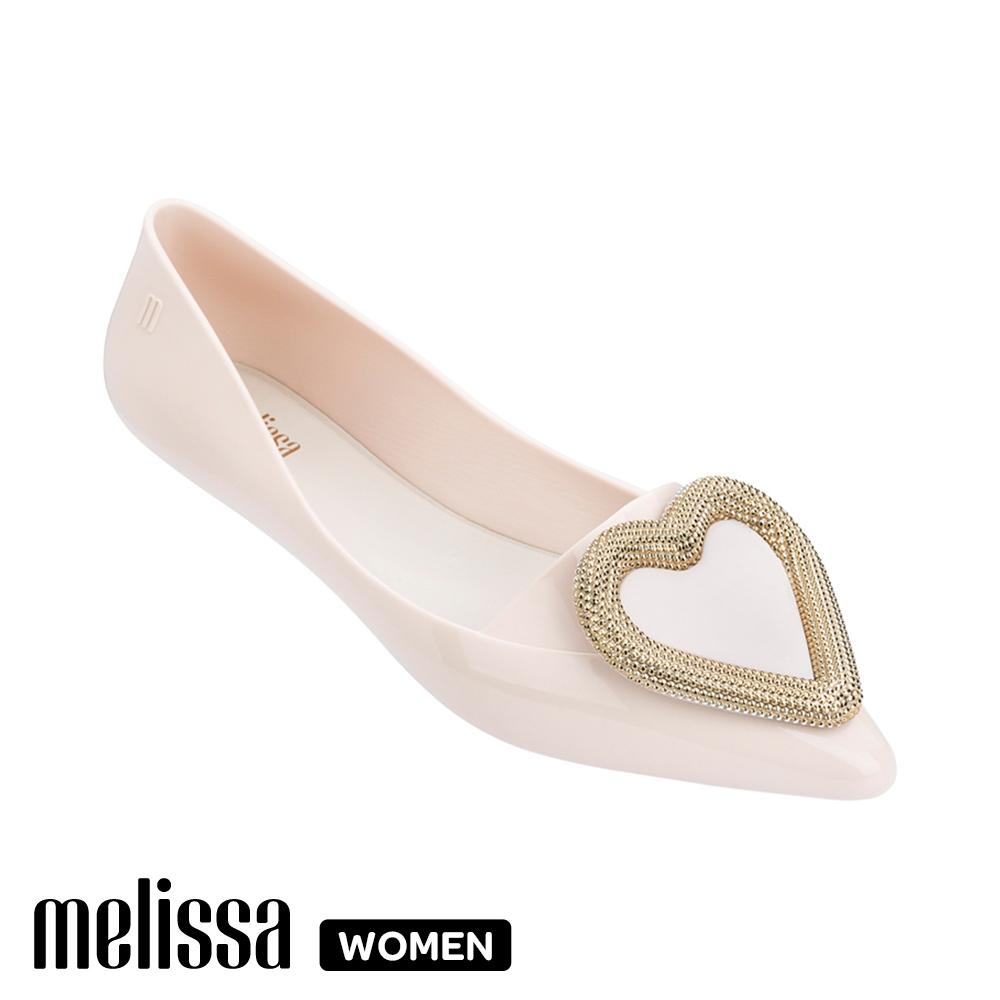 Melissa 經典愛心娃娃鞋-白