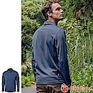Wildland 荒野 0A62620-72深藍色 男POLO本布領保暖衣