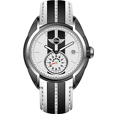 MINI Swiss Watches休閒運動腕錶(MINI-72)-白x黑/38mm