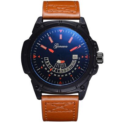 Gonewa-紳士特務 獨領風騷裝飾潮流日曆手錶 (3色任選)