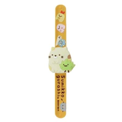 日本限定UNIQUE角落生物自動捲曲拍拍錶SG-0066兒童手錶電子錶(可掛背包)幼兒孩童適小朋友手錶-San-X角落小夥伴白熊/貓/蜥蜴(恐龍)