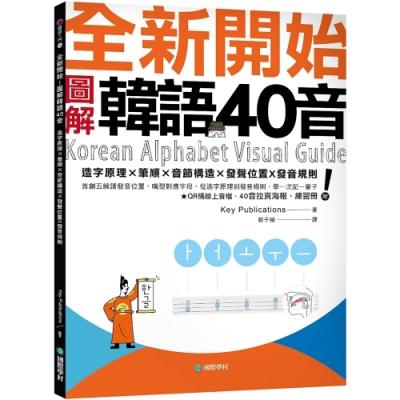 全新開始!圖解韓語40音:首創五線譜發音位置,嘴型對應字母,從造字原理到發音規則,學一次記一輩子(附QR碼線上音檔、40音拉頁海報、練習冊)