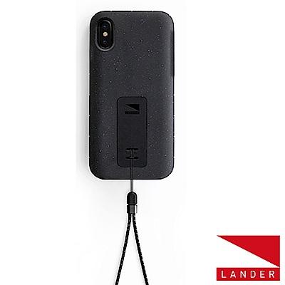 美國 Lander iPhone Xs / X Moab 防摔手機保護殼 - 黑(附手繩)