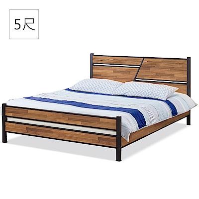 凱曼  奧蘭多積層木5尺床片型雙人床