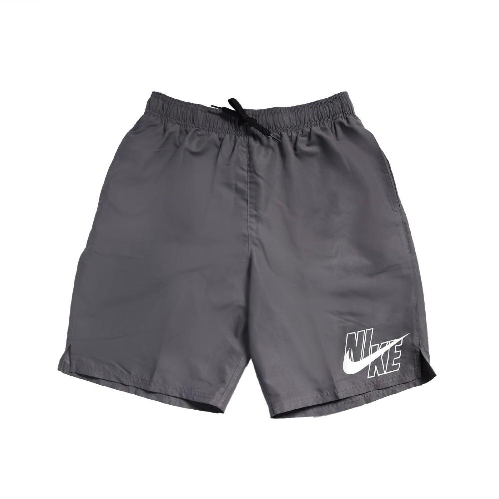 Nike 短褲 Logo Lap Board shorts 男 運動休閒 膝上 口袋 基本款 海灘褲 灰 白 NESSA565018