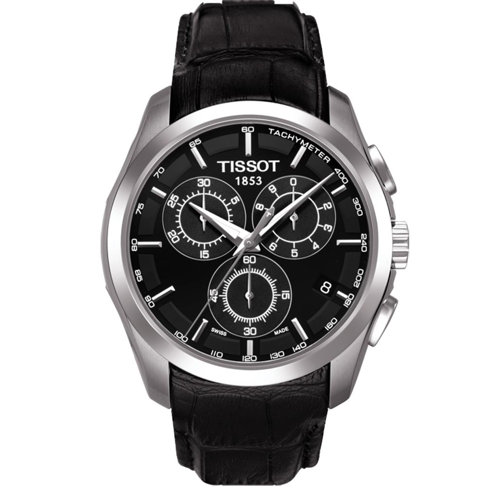 TISSOT天梭 Couturier 石英計皮帶時腕錶 T0356171605100 @ Y!購物