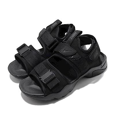 Nike 涼拖鞋 Canyon Sandal 女鞋  輕便 套腳 夏日 魔鬼氈 舒適 簡約 穿搭 黑 CV5515002