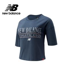 [New Balance]短版短袖T恤_女性_藍綠色_WT13509DOG