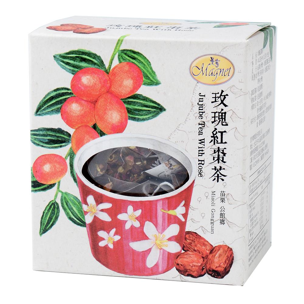 曼寧 台灣花茶-玫瑰紅棗茶(3gx15包)