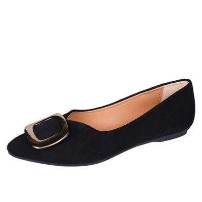 KEITH-WILL時尚鞋館 氣質魅力平底鞋-黑色