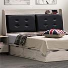 文創集 戈波時尚6尺雙人加大床頭箱(不含床底)-152x9x114cm免組