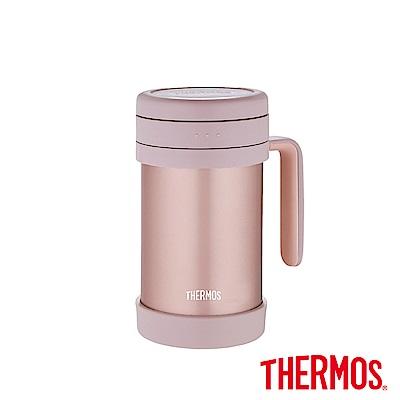 THERMOS膳魔師不鏽鋼真空保溫杯0.5L(TCMF-501)-CAC(粉色)