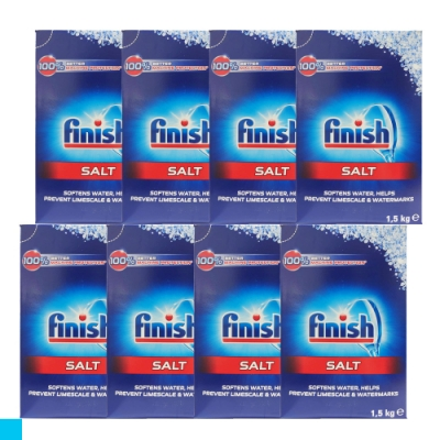 德國進口 FiNiSh 洗碗機專用 軟化鹽 1.5公斤 X8入組