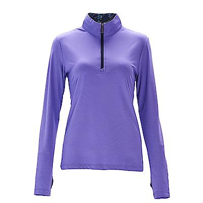 荒野【wildland】女彈性針織輕薄上衣紫羅藍