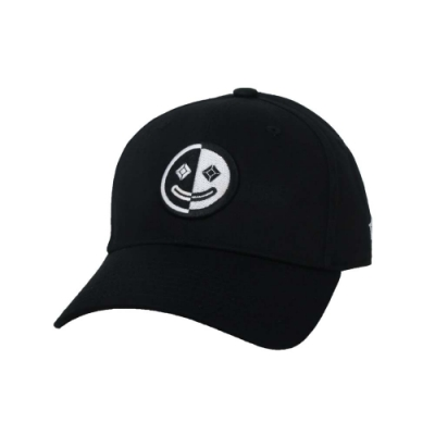 KAPPA DD52聯名球帽-遮陽 防曬 鴨舌帽 帽子 菱格世代 純棉 35151EW-005 黑白