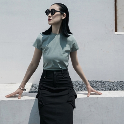 設計所在Style-緊身顯瘦短版百搭基本款韓版短袖T恤