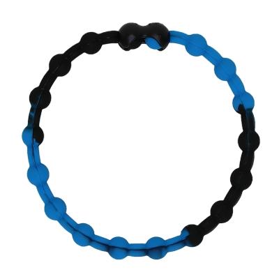 Pro Hair Tie 扣環髮圈單條組-黑藍色